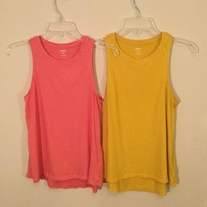 Old Navy | 2 Swing Tank Tops Mustard and Salmon Sm